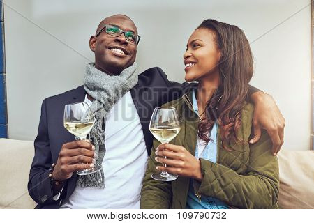 Black Couple Having A Good Time