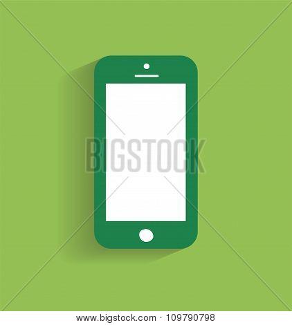 Smartphone icon vector illustration green / Smartphone icon