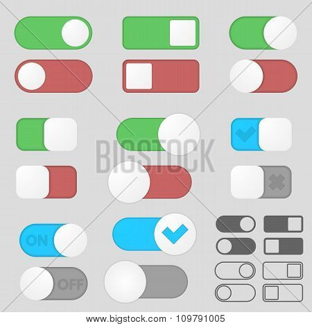 Toggle switch buttons pack.