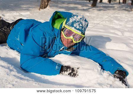 Resting Snowboarder