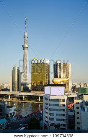 Tokyo Sky Tree Building In Asakusa District In Tokyo