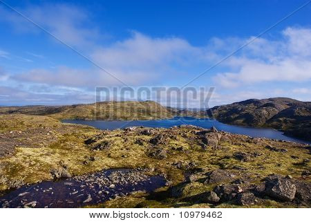 Musta Tunturi. Ridge On The Kola Peninsula, Arctic Russia