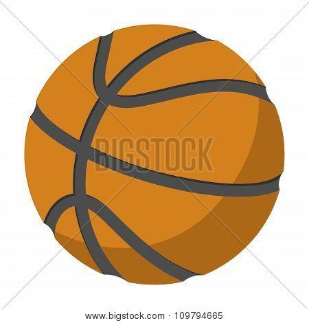 Basketball single cartoon illustration
