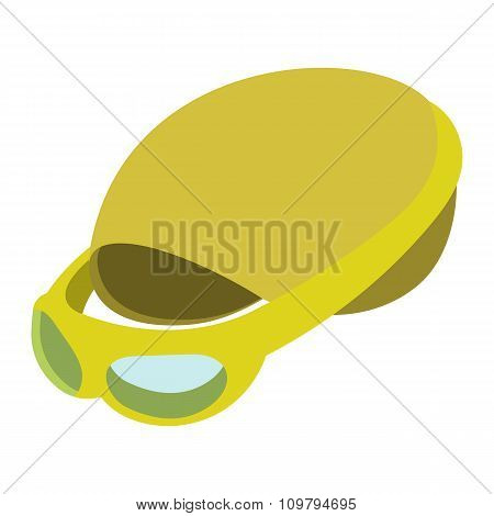 Swimming cap and goggles illustration