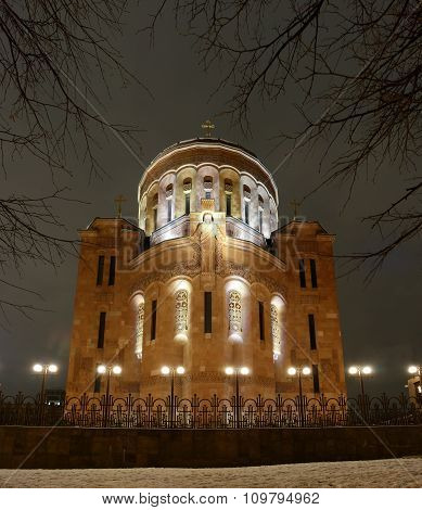 classical Armenian cathedral in Moscow