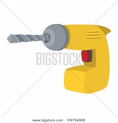 Drill yellow cartoon symbol