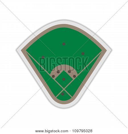 A Field For Baseball, Vector Illustration.