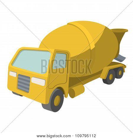 Concrete mixer cartoon yellow symbol