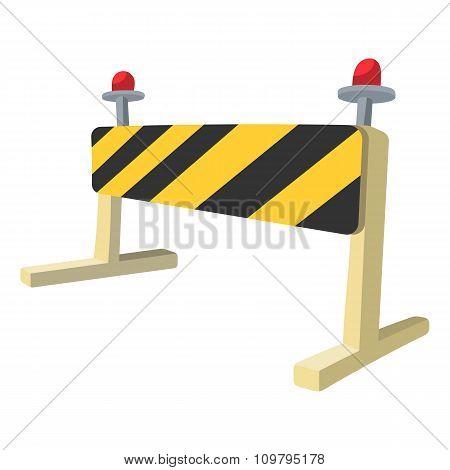 Traffic barrier cartoon icon