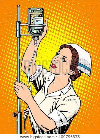 Nurse medicine dropper