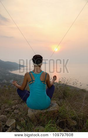 Yoga On The Mountain.