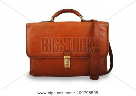 Old Briefcase With Sholder Strap