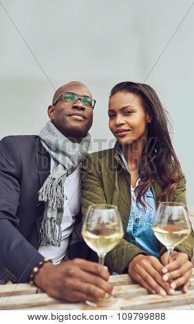 Portrait Of Black Couple Dating