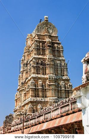 Virupaksha Temple In Hampi, India.