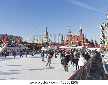 The Skating Rink On Red Square