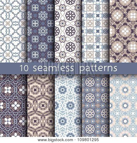 10 Vintage Patterns For Universal Background.