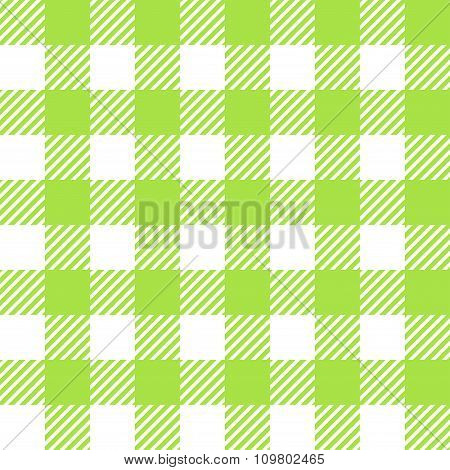 Tablecloth In Green With Checkered Design