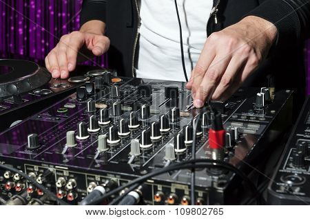 DJ at nightclub part