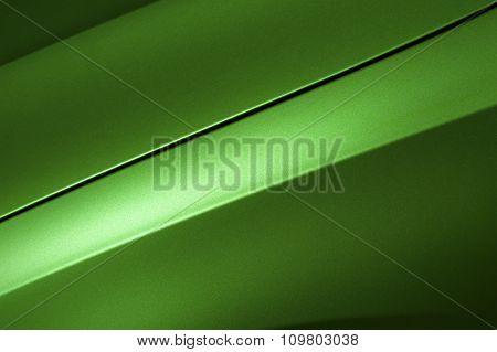 Green sedan bodywork