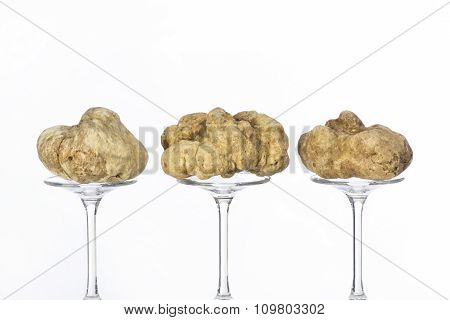 Still Life Of A Truffles On A White Background