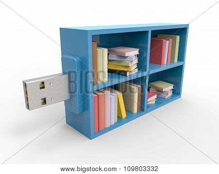 Usb Bookshelf Flash Drive