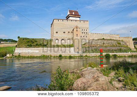 Border Post On Narva River