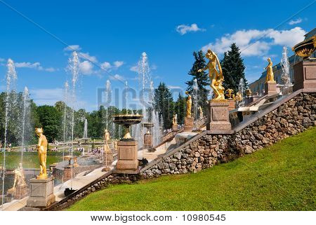 Lower Park Of The Peterhof