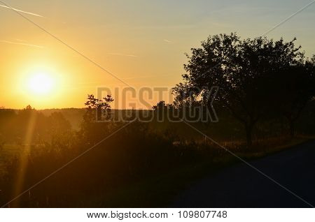 Summer Sunset , Southern Bohemia