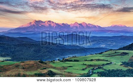Slovakia And Poland Countryside, Tatras