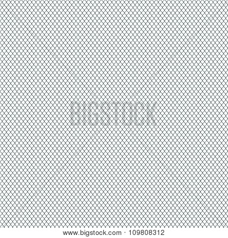 Seamless Mesh On White Background.