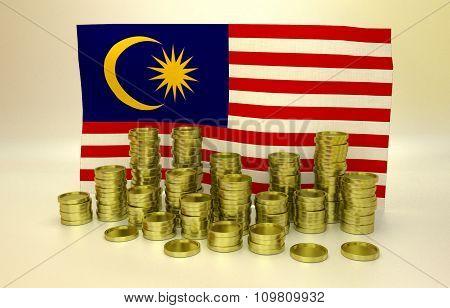 finance concept with EU flag