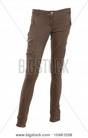 Pantalones de color oliva
