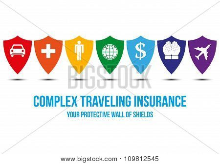 Complex Traveling Insurance Design Concept