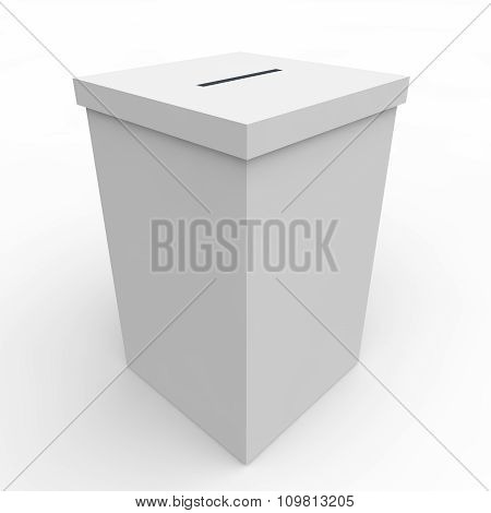 White Blank Box For Voting