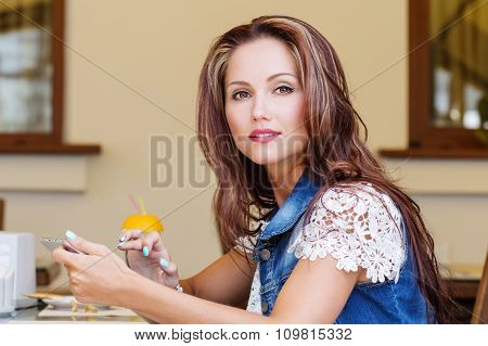 Beautiful Young Woman With Tablet