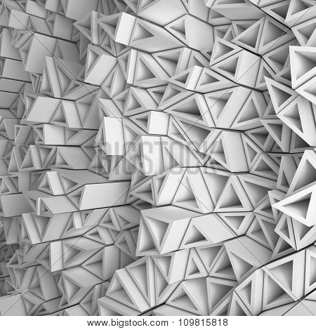 White triangles backdrop
