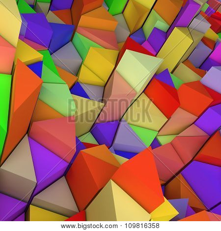 Colourful triangles backdrop