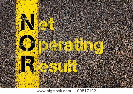 Business Acronym Nor As Net Operating Result