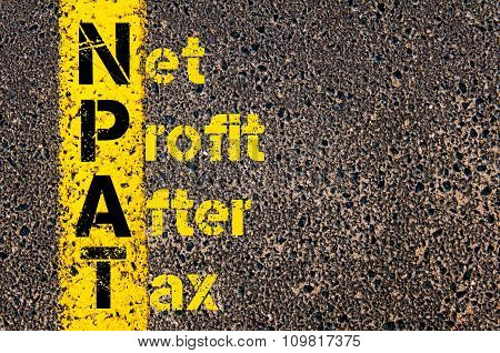 Business Acronym Npat As Net Profit After Tax