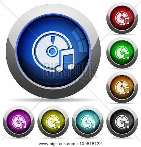 Audio Cd Button Set