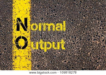 Business Acronym No As Normal Output