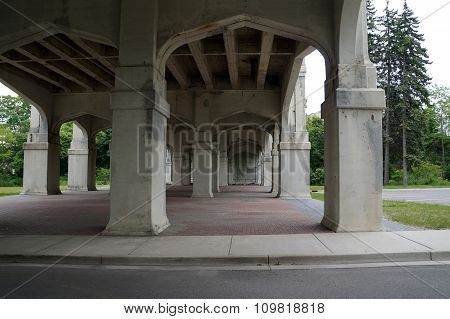 Under the Mitchell Street Bridge