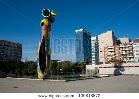 Dona I Ocell, Joan Miro's Sculpture In Barcelona