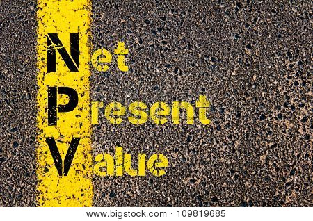Business Acronym Npv As Net Present Value