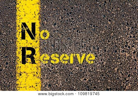 Business Acronym Nr As No Reserve