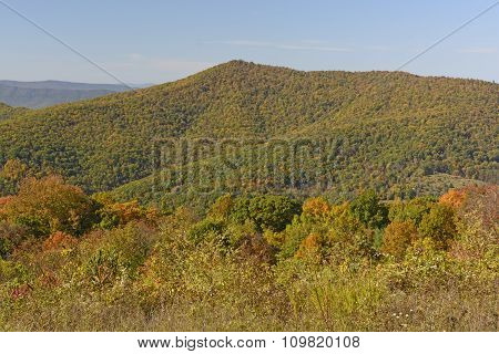 Changing Colors On A Mountain Ridge