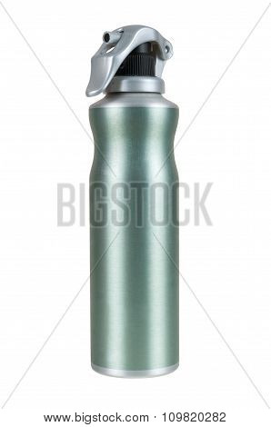 Green Spray Can On White Background