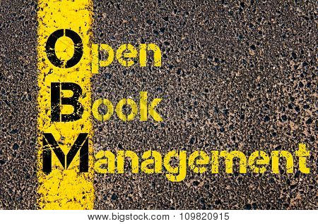 Accounting Business Acronym Obm Open Book Management