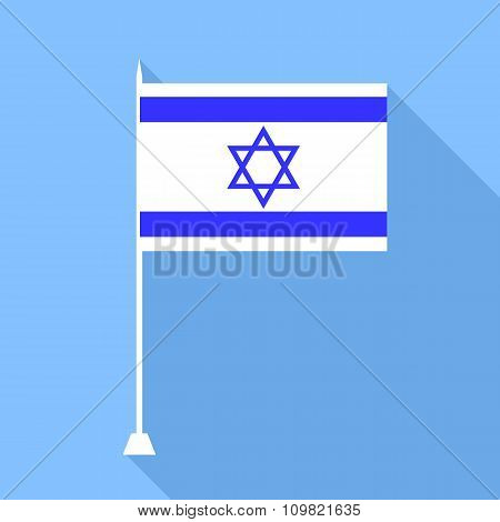 Flag Of Israel. Vector Illustration.