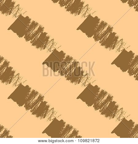 Seamless pattern with gold brush strokes